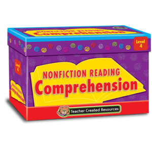 TCR3056 Nonfiction Reading Comprehension Cards Level 4 Image