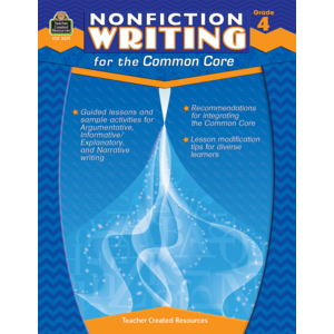 TCR3071 Nonfiction Writing for the Common Core Grade 4 Image