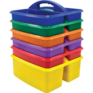 TCR32219 Primary Colors Storage Caddies Set 6-Pack Image