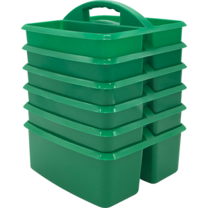 TCR32251 Green Plastic Storage Caddy-6 pack Image