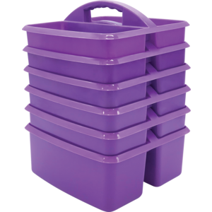 TCR32256 Purple Plastic Storage Caddy-6 pack Image