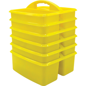 TCR32259 Yellow Plastic Storage Caddies 6-Pack Image