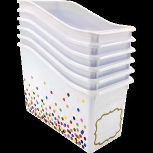 TCR32260 Confetti Plastic Book Bins 6-Pack Image