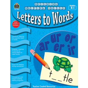 TCR3246 Building Writing Skills: Letters to Words Image