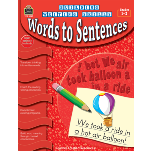 TCR3247 Building Writing Skills: Words to Sentences Image