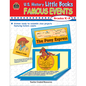 TCR3258 US History Little Books: Famous Events Image