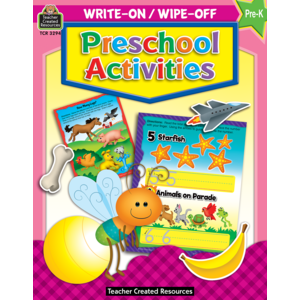TCR3294 Preschool Activities Write-On Wipe-Off Book Image