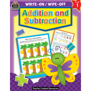 TCR3298 Addition and Subtraction Write-On Wipe-Off Book Image