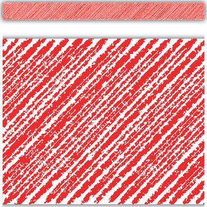 TCR3413 Red Scribble Straight Border Trim Image