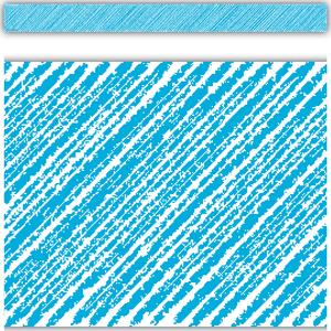 TCR3414 Aqua Scribble Straight Border Trim Image