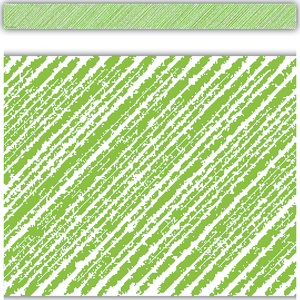 TCR3415 Lime Scribble Straight Border Trim Image