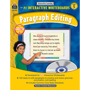 TCR3419 Interactive Learning: Paragraph Editing Grade 5 Image