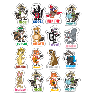 TCR3460 Ranger Rick Stickers Image