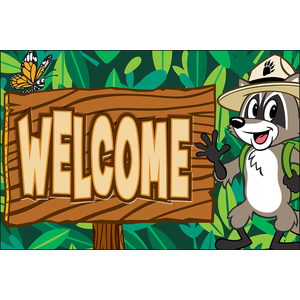 TCR3476 Ranger Rick Welcome Postcards Image