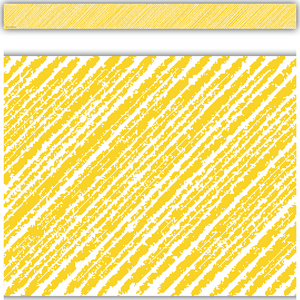 TCR3480 Yellow Scribble Straight Border Trim Image