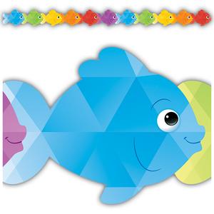 TCR3497 Colorful Fish Die-Cut Border Trim Image