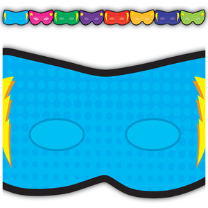TCR3514 Superhero Masks Die-Cut Border Trim Image
