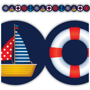 TCR3517 Nautical Die-Cut Border Trim Image