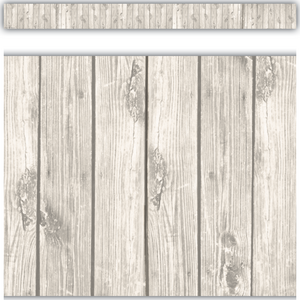 TCR3563 White Wood Straight Border Trim Image