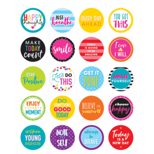 TCR3585 Colorful Words to Inspire Planner Stickers Image