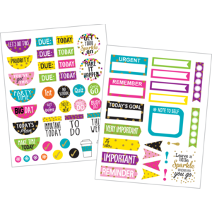 TCR3589 Confetti Planner Stickers Image