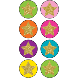TCR3602 Confetti Stars Mini Stickers Image