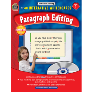 TCR3610 Interactive Learning: Paragraph Editing Grade 1 Image