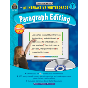 TCR3611 Interactive Learning: Paragraph Editing Grade 2 Image