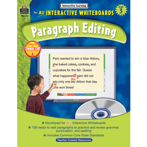 TCR3631 Interactive Learning: Paragraph Editing Grade 3 Image