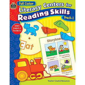 TCR3702 Full-Color Literacy Centers for Reading Skills Image