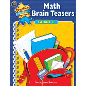 TCR3753 Math Brain Teasers Grade 3 Image
