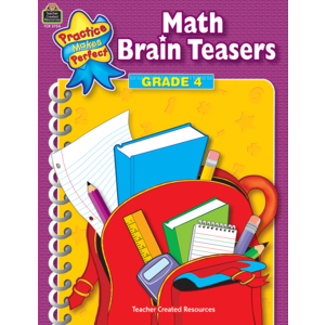 TCR3754 Math Brain Teasers Grade 4 Image