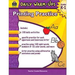 TCR3770 Daily Warm-Ups: Printing Practice Grades K-1  Image