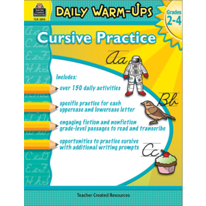 TCR3810 Daily Warm-Ups: Cursive Practice Grades 2-4  Image