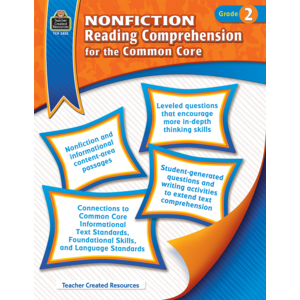 TCR3822 Nonfiction Reading Comprehension for the Common Core Grade 2 Image