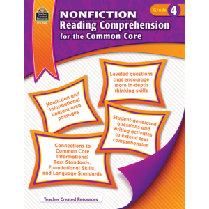 TCR3825 Nonfiction Reading Comprehension for the Common Core Grade 4 Image