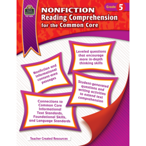 TCR3826 Nonfiction Reading Comprehension for the Common Core Grade 5 Image
