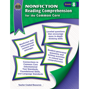 TCR3833 Nonfiction Reading Comprehension for the Common Core Grade 8 Image