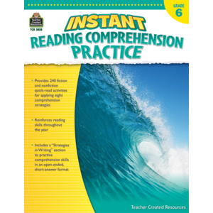 TCR3835 Instant Reading Comprehension Practice Grade 6 Image