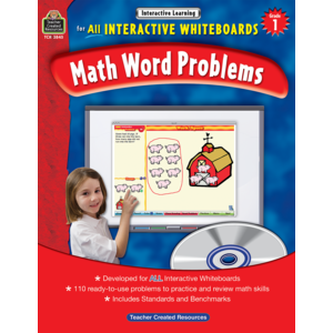 TCR3845 Interactive Learning: Math Word Problems Grade 1 Image