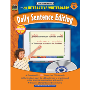 TCR3886 Interactive Learning: Daily Sentence Editing Grade 4 Image