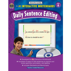 TCR3891 Interactive Learning: Daily Sentence Editing Grade 6 Image