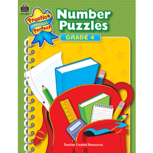 TCR3909 Number Puzzles Grade 4                          Image