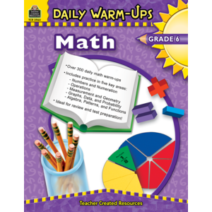 TCR3964 Daily Warm-Ups: Math, Grade 6 Image