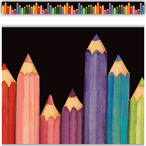 TCR4060 Colored Pencils Straight Border Trim from Susan Winget Image