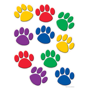 TCR4114 Colorful Paw Prints Accents Image
