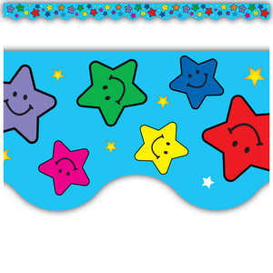 TCR4128 Happy Stars Scalloped Border Trim Image