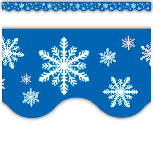 TCR4139 Snowflakes Scalloped Border Trim Image