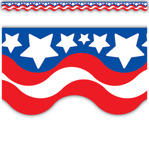 TCR4158 Patriotic Scalloped Border Trim Image