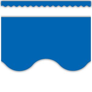 TCR4173 Blue Scalloped Border Trim Image